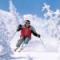 Hombre esquiando
